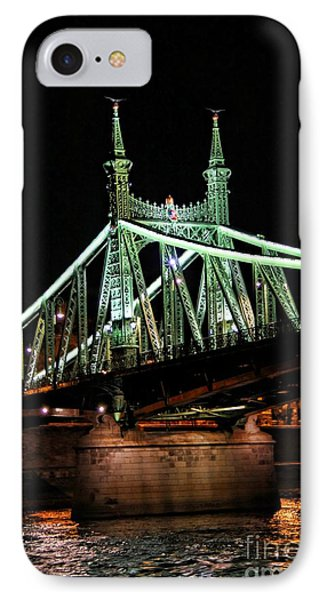 Liberty Bridge At Night Phone Case by Mariola Bitner