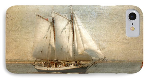 Liberty Clipper On Boston Harbor IPhone Case