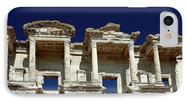 Library Of Celsus In Ephesus Phone Case by Sally Weigand