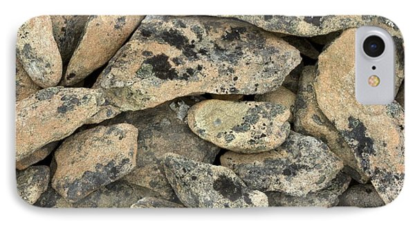 Lichen-covered Rocks IPhone Case by Bob Gibbons