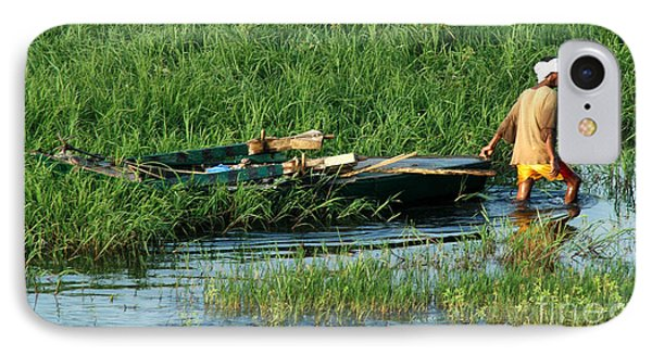 IPhone Case featuring the photograph Life Along The Nile by Vivian Christopher
