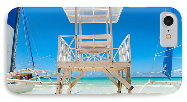 IPhone Case featuring the photograph Life Guard Tower by Hans Engbers
