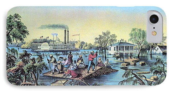 Life On The Mississippi, 1868 Phone Case by Photo Researchers