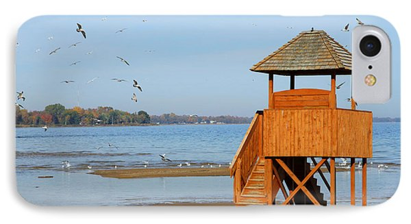 IPhone Case featuring the photograph Lifeguard Lookout by Mark J Seefeldt