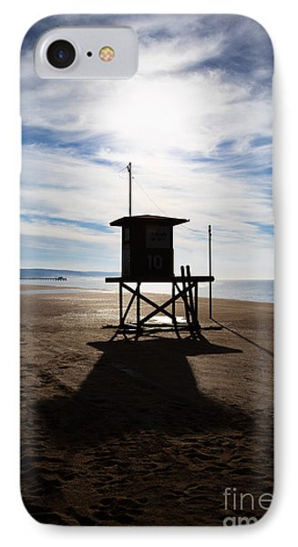 Lifeguard Tower Newport Beach California Phone Case by Paul Velgos