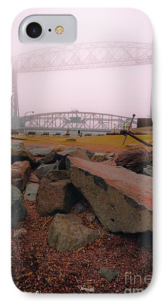Lift Bridge In Spring Fog IPhone Case by Mark David Zahn