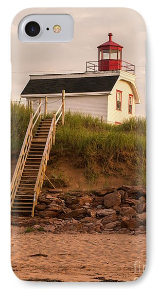 Lighhouse Cousins Shore Pei IPhone Case by Edward Fielding