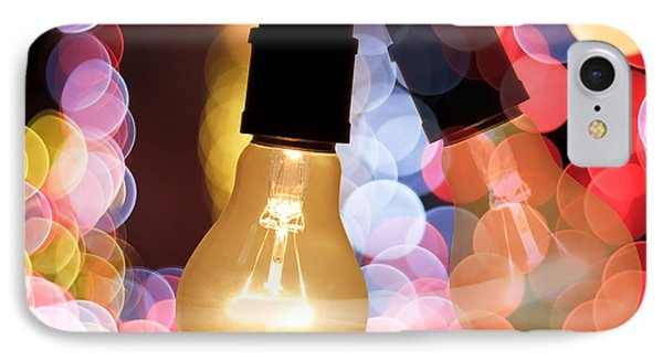 Light Bulb And Bokeh Phone Case by Setsiri Silapasuwanchai