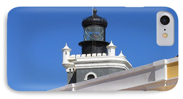 Lighthouse At Puerto Rico Castle IPhone Case by Suhas Tavkar
