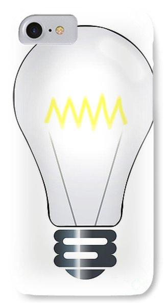 Lightbulb Illustration IPhone Case