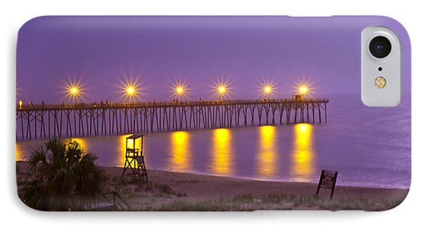 Lightening Strike At Kure Beach IPhone Case by Betsy Knapp