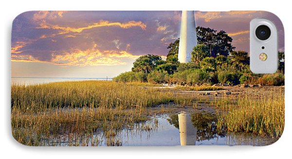 Lighthous Reflection 1 Phone Case by Marty Koch