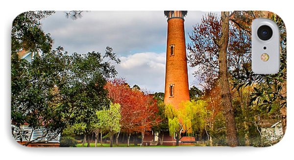 Lighthouse At Currituck Beach IPhone Case by Nick Zelinsky