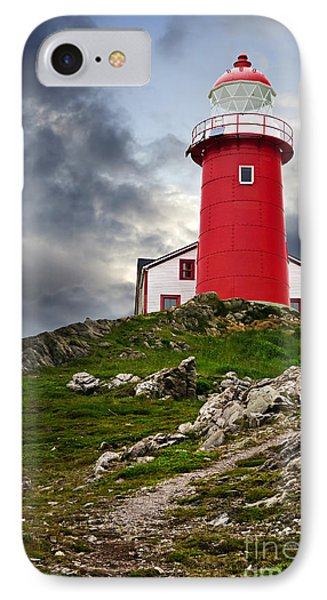 Lighthouse On Hill IPhone Case by Elena Elisseeva