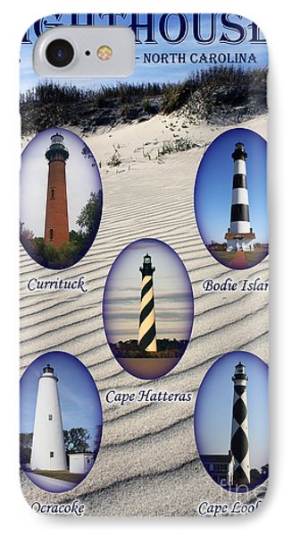 Lighthouses Of The Outer Banks IPhone Case by Tony Cooper
