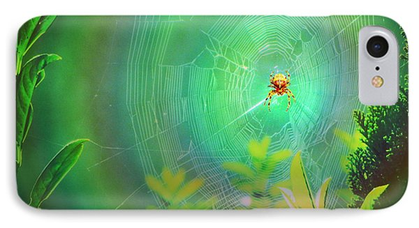 Lightning Spider Phone Case by Helmut Rottler