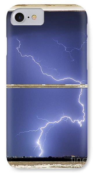 Lightning Strike White Barn Picture Window Frame Photo Art  Phone Case by James BO  Insogna