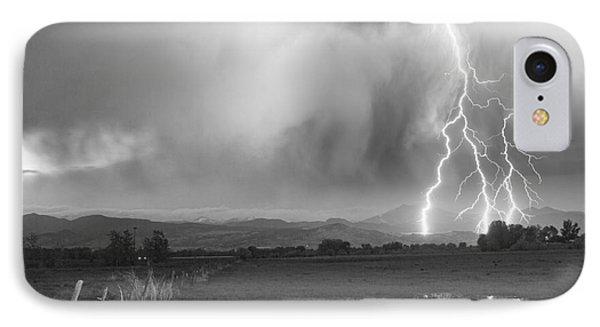 Lightning Striking Longs Peak Foothills 6bw Phone Case by James BO  Insogna