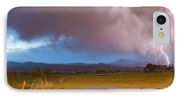 Lightning Striking Longs Peak Foothills 7 Phone Case by James BO  Insogna