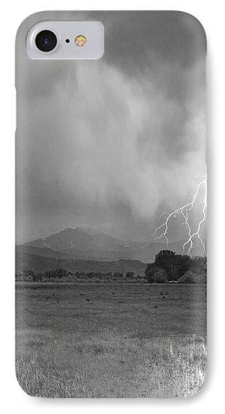 Lightning Striking Longs Peak Foothills 7cbw Phone Case by James BO  Insogna