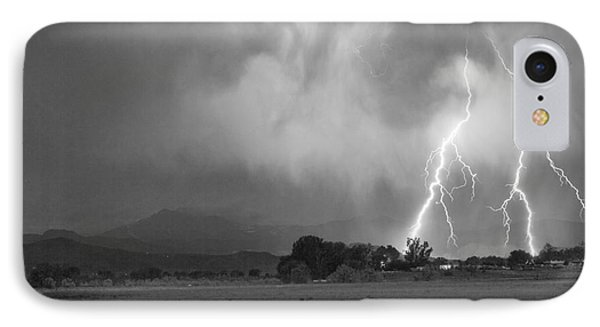 Lightning Striking Longs Peak Foothills 8cbw Phone Case by James BO  Insogna