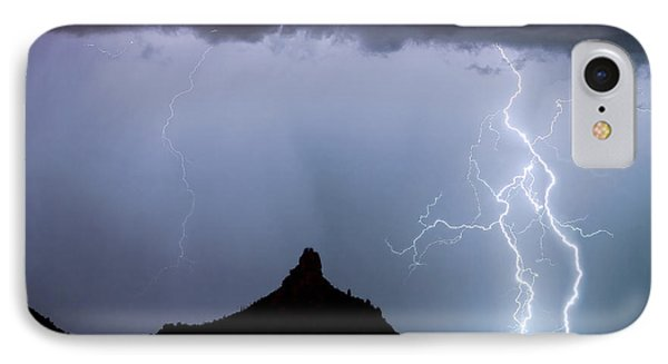 Lightning Thunderstorm At Pinnacle Peak Phone Case by James BO  Insogna