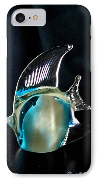 Lights And Glass Study 1  Blue Fish Phone Case by Danielle  Parent