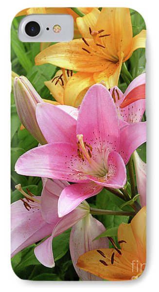 Lilies (lilium Sp.) Phone Case by Tony Craddock