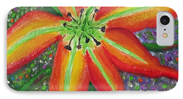 Lily In My Garden IPhone Case by Margaret Harmon