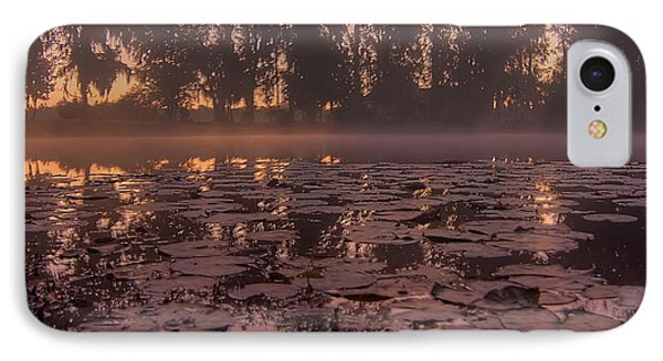 IPhone Case featuring the photograph Lily Pads In The Fog by Dan Wells