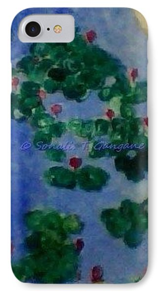 IPhone Case featuring the painting Lily Pond by Sonali Gangane