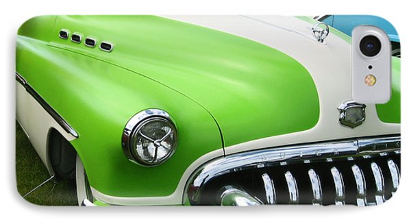 IPhone Case featuring the photograph Lime Green 1950s Buick by Kym Backland