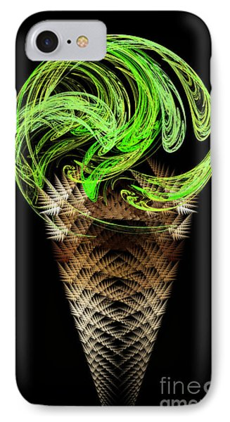 Lime Ice Cream Cone Phone Case by Andee Design