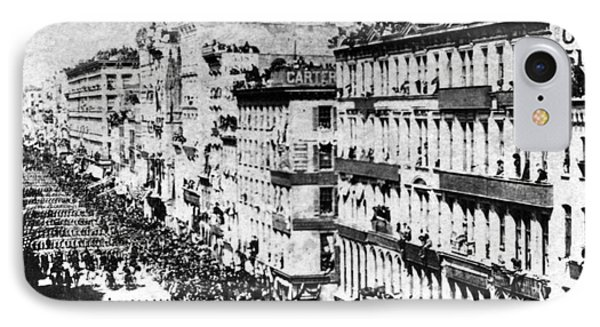 Lincolns Funeral Procession, 1865 Phone Case by Photo Researchers