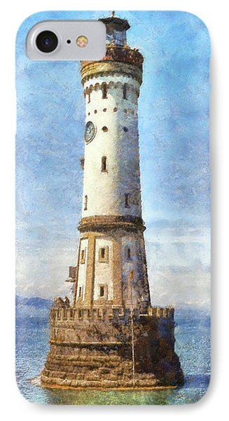 Lindau Lighthouse In Germany Phone Case by Nikki Marie Smith