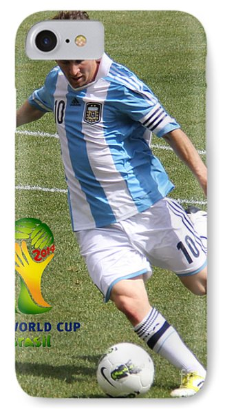 Lionel Messi Kicking V Fifa World Cup 2014 IPhone Case