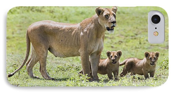 Lioness With Cubs Phone Case by Carson Ganci