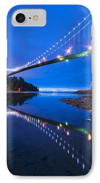 Lions Gate Bridge, Vancouver, Canada IPhone Case by David Nunuk
