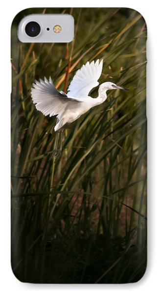 IPhone Case featuring the photograph Little Blue Heron On Approach by Steven Sparks
