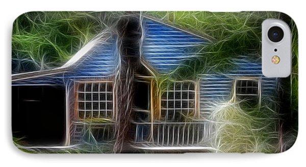 Little Blue House Cape Cod  IPhone Case by Marjorie Imbeau