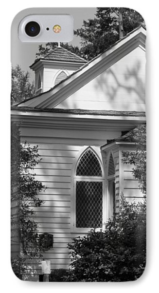 Little Chapel In The Woods In Black And White Phone Case by Suzanne Gaff