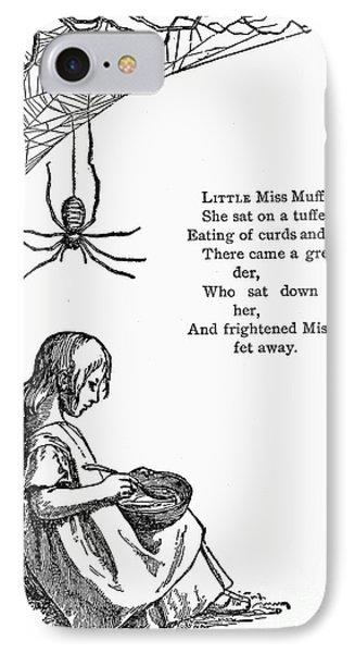 Little Miss Muffet Phone Case by Granger