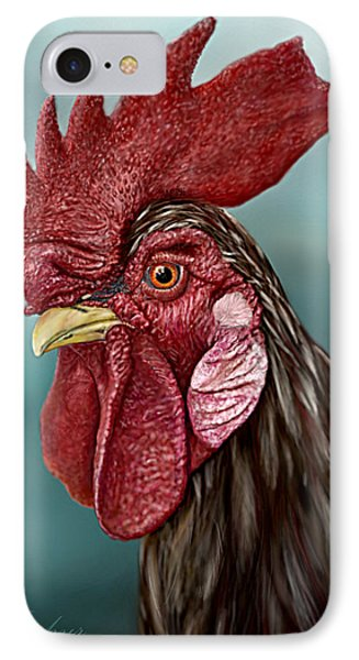 Little Red Rooster Phone Case by Jephyr Art