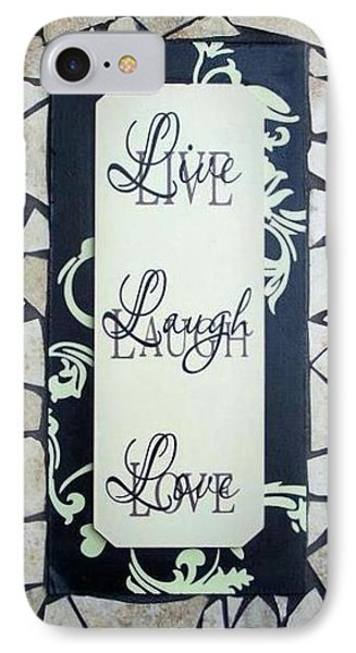 Live-laugh-love Tile Phone Case by Cynthia Amaral