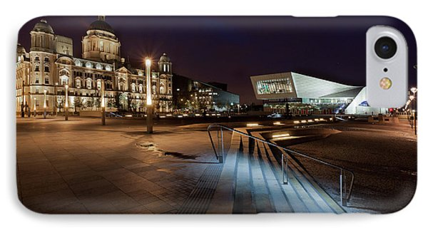Liverpool - The Old And The New  IPhone Case by Beverly Cash