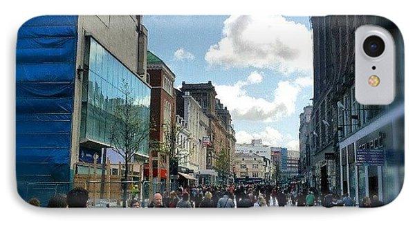 #liverpool #uk #england #street #market IPhone Case by Abdelrahman Alawwad