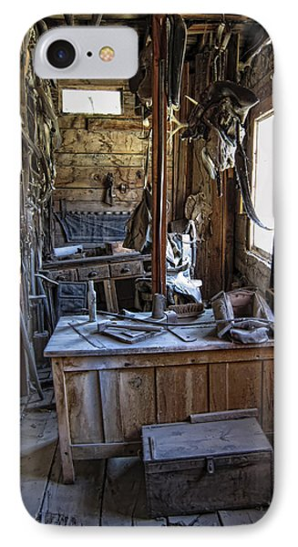 Livery Stable Work Area - Virginia City Ghost Town - Montana IPhone Case