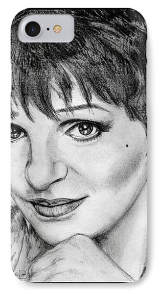 IPhone Case featuring the drawing Liza Minnelli In 2006 by J McCombie