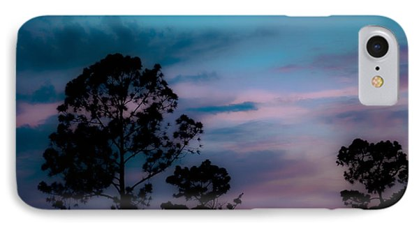 Loblelly Pine Silhouette Phone Case by DigiArt Diaries by Vicky B Fuller