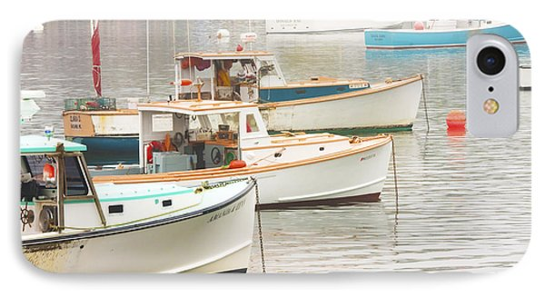 Lobster Boats In Bass Harbor Mount Desert Island Maine Photo  IPhone Case